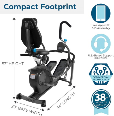 teeter freestep cross trainer footprint